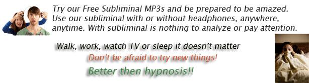 Free subliminal Cds, Free subliminal Mp3s messages download